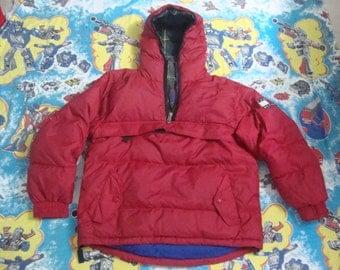 Vintage Tommy Hilfiger Color Block Puffer Ski Coat TOMMY HILFIGER red  Hip Hop Tommy Colorblock Hoodie Jacket 1990's Size S
