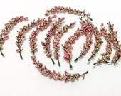 One Lot Pink Foam Berry Clusters - AS IS - NO Returns, Artificial Flowers, Flower Crown, Millinery, Hair Accessories, Wedding