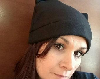 black pussyhat - pussycat hat - pussyhat  - pink pussy hat  - pussyhat project - womens march hat - pussycat hat - fleece cat hat