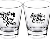 Wedding Shot Glasses - Wedding Favors - Party Favors - Shot Glasses - Best Day Ever  Shot Glasses - Bachelor Party - Custom Shot Glasses