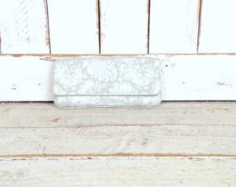 Vintage silver/tan floral brocade tapestry evening clutch bag/Browns Couture handbag/bridal/wedding clutch purse
