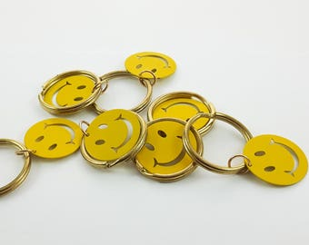 Smiley Face Keychains - 7 Pcs