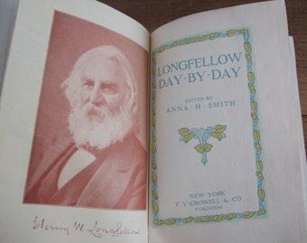 Longfellow Day by Day Antique Cloth-bound Book of Verses