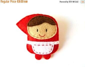 Felt brooch Little Red Riding Hood