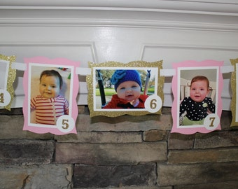 1st Birthday Photo/Picture Banner for your Celebrations. Custom Theme/Colors, Also Great for: Sweet 16, Graduation Party, Bridal Shower, Etc