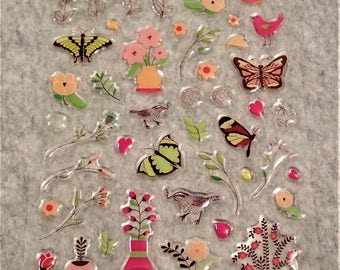 Mixed Cute PVC Flowers Stickers