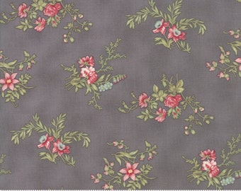 Poetry - Delicate Sprays in Charcoal by 3 Sisters for Moda Fabrics
