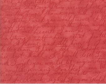 Poetry - Script in Rose by 3 Sisters for Moda Fabrics