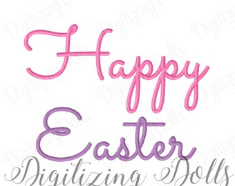 Happy Easter 3 Machine Embroidery Design 3x3 4x4 5x5 5x7 6x10 INSTANT DOWNLOAD