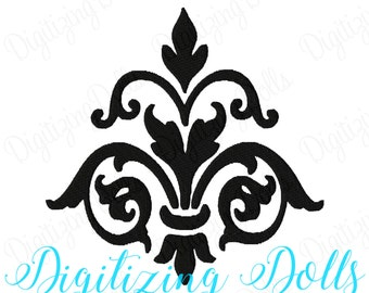 Damask Solid Fill Machine Embroidery Design 3x3 4x4 5x5 INSTANT DOWNLOAD