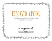RESERVED Listing for Teresa