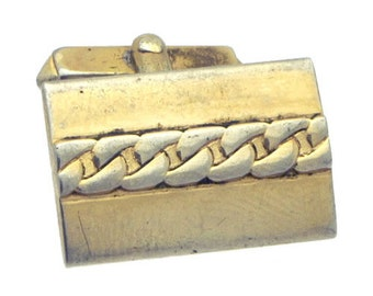 Antique/Vintage Gold tone Rectangle Cufflinks #1427