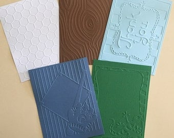 EMBOSSED CARDSTOCK 41/4 x 51/2 inches 5 pack Boys Pack