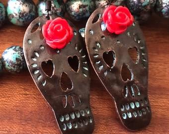 Day of the Dead Wedding Sugar Skulls earrings