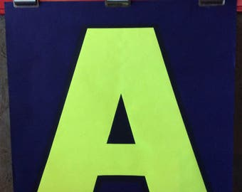 """Choose ONE (Or More) 1960s HUGE 24"""" x 24"""" Silkscreened Letters -Three Available (A - L - E)"""