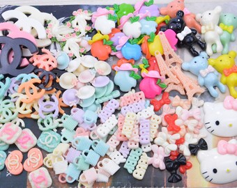 Assorted Kawaii Resin Cabochons For jewelry making, craft, Decoden, Scrapbooking, Cardmaking, Project Life and Pocket Letters, Resin beads