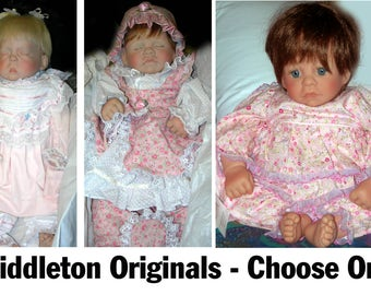 Lee Middleton Original Doll Retired vinyl Cotton Top, First Moments Asleep, Preemie Choose One