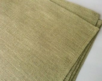Burlap Placemats, Rustic Burlap Placemats, Sage Green Rustic Chic Table Linen Set of 6