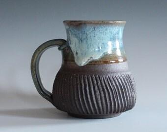 Pottery Coffee Mug, 13 oz, handmade ceramic cup, handthrown mug, ceramic stoneware pottery mug unique coffee mug ceramics and pottery