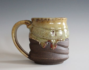 Ceramic Mug, 12 oz, handmade ceramic cup, handthrown mug, ceramic stoneware, pottery mug, unique coffee mug, ceramics and pottery