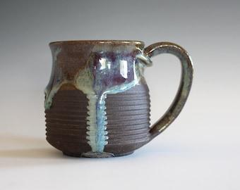 DISCOUNTED Coffee Mug, 12 oz, handthrown ceramic mug, stoneware pottery mug, unique coffee mug