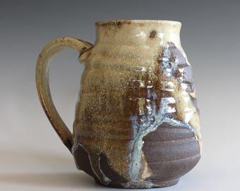 DISCOUNTED Mug, 26 oz, handmade ceramic cup, handthrown mug, stoneware mug, pottery mug, unique coffee mug, ceramics and pottery