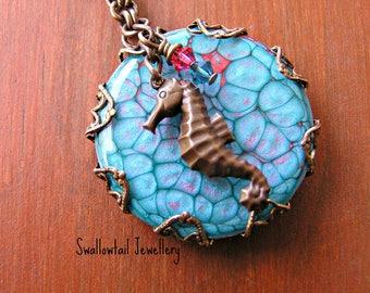 Coral Seahourse Necklace