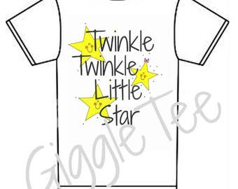 LillieGiggles Toddler Children Tees Twinkle Twinkle Little Star 100% cotton tshirts