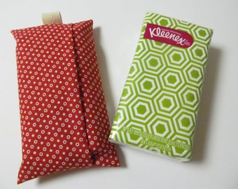 Tissue Case/White Dots On Red