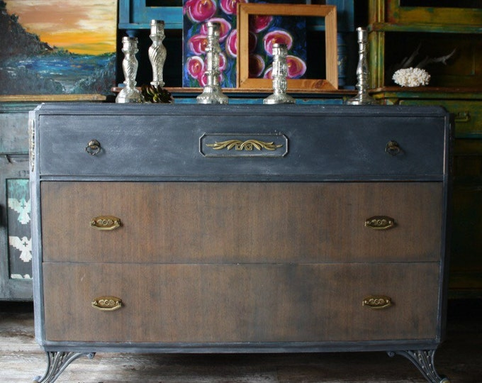 Absolutely Beautiful Dresser in Navy Vintage