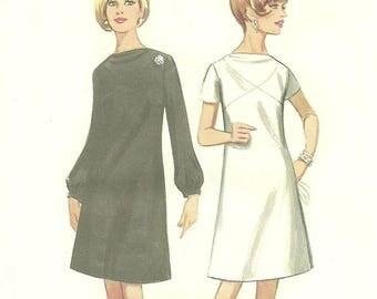 Butterick 4483 A Line Dress Pattern Short or Long Sleeve Size 18 Bust 38 FF Uncut