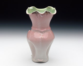 Pink, Green and White Vase