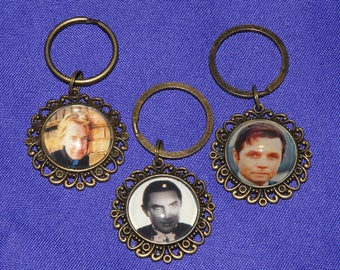 Keychain or Zipper Pull - Hollywood Icons - Alan Rickman