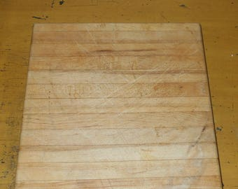 Vintage Chopping Block - Square Chopping Block - Butcher - Farmhouse - Country