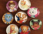 RESERVED for DF Daniel Tiger's Neighborhood Glass Bubble Magnets