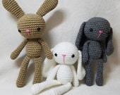 Ready to Ship!! BUNNY RABBIT Crochet Stuffed Animal Doll Toy