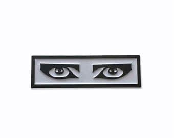 "Goth Eyes Enamel Pin - 1.5"""