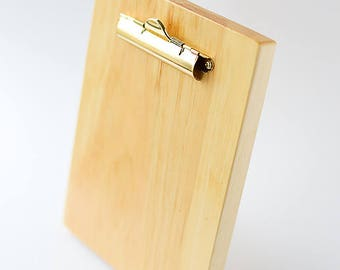 Pine Wooden Clipboard with Stand for Display | Photo Frame