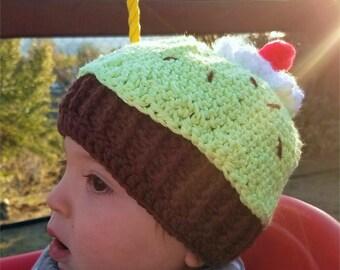 Cupcake beanie hat - Babies (12-18 months)
