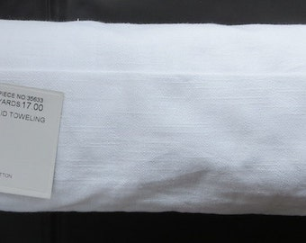 """Moda Toweling - 16"""" Barkcloth Toweling Snow 920 210 (This toweling has a good thickness to it!)"""