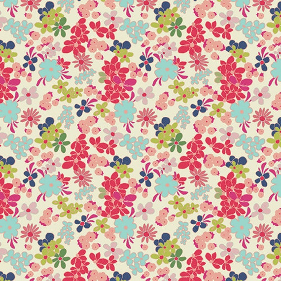 Art gallery fabric fusions ladylike abloom fabric by the for Floral nursery fabric