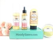Natural Skincare Set for Normal to Dry Skin - includes Cleanser, Scrub, Toner, and Face Cream