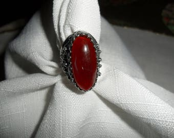 Vintage Carnelian Sterling Silver Ring Size 7