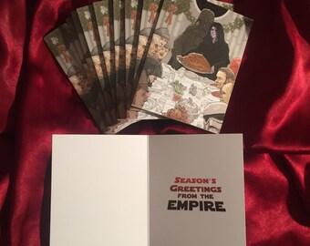 STAR WARS Darth Vader Empire Christmas Card 10 PACK