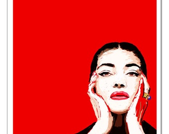 Maria Callas-Pop Art Print