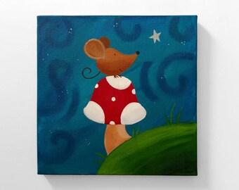 Mouse's Wish ~ Original Acrylic Painting