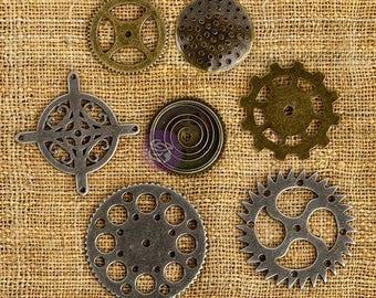 Clock Gears Clock Parts Clock Mechanism Bronze Gears Metal Gears Steampunk Gears Assorted Gears Silver Gears 7 pieces