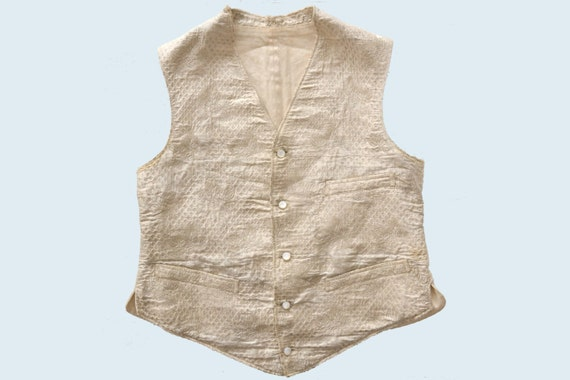 1910s Embroidered Silk Vest size S