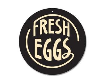 "Fresh Eggs - 9"" Round (black)"