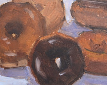 Assorted Donuts- Original Still Life Oil Painting